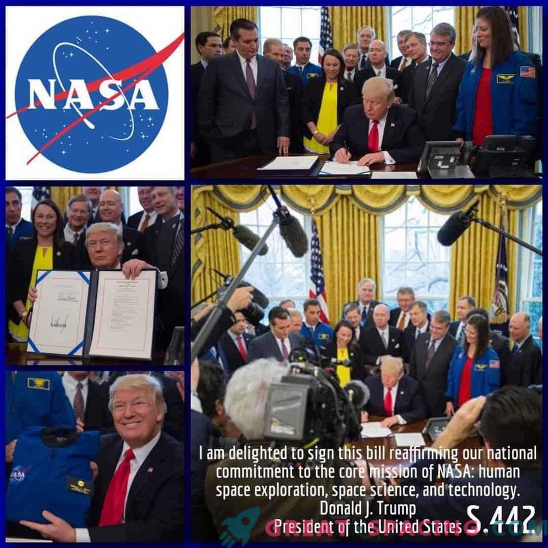 Trump betrachtet die menschliche Mission zum Mars als Priorität