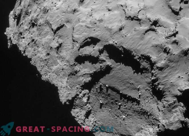Rosetta entdeckte eine Steinpyramide auf der Oberfläche des Kometen