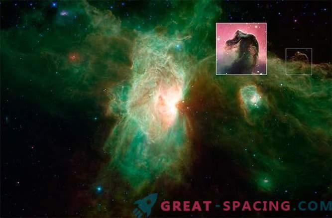 Neues Bild des Flammennebels, aufgenommen mit dem Spitzer-Teleskop