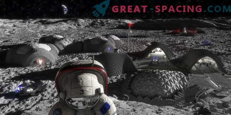 Bewundere die mögliche zukünftige Basis des Mondes