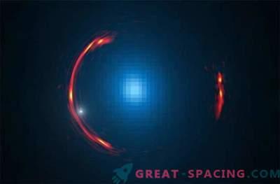 Die Dunkle Materie einer Zwerggalaxie ist in der Verformung der Raumzeit verborgen.