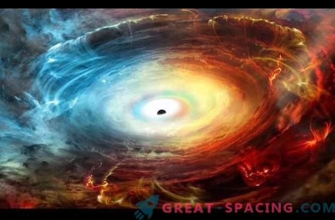 Das Schwarze Loch wird von Abgasen maskiert