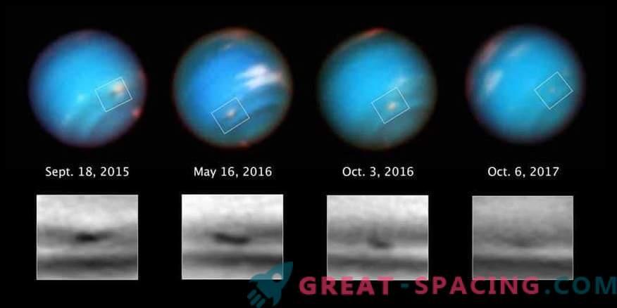 Hubble beobachtet den seltsamen Sturm von Neptun