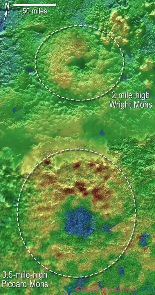 Seltsame Berge auf Pluto können Eisvulkane sein