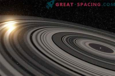 Riesenringsystem um Exoplaneten