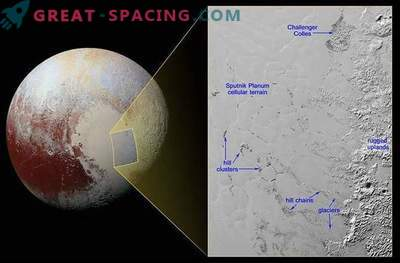 Erstaunliche Schwimmer der Pluto-Eisberge