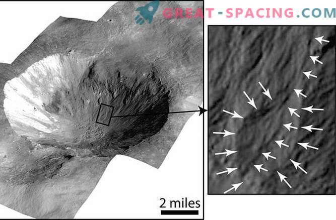 Wasser könnte an den Wänden der Vesta-Krater entlang fließen.