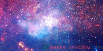 Schöne Blitze aus der Mitte der Galaxis