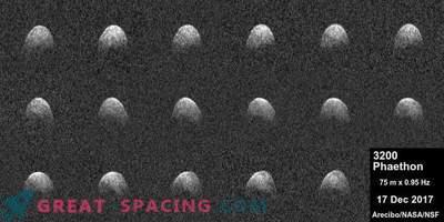 Das Arecibo-Radar empfängt Phaeton-Bilder