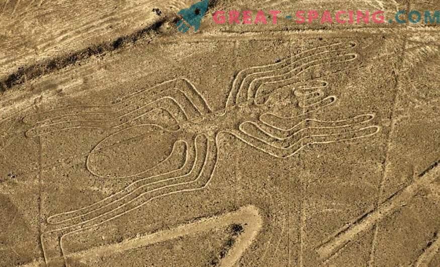 Antike Zeichnungen in der Nazca-Wüste. Ufologen weisen auf außerirdischen Ursprung hin
