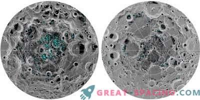 An den Mondpolen bestätigte das Vorhandensein von Eis