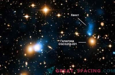 Ein monströser Röntgenschwanz ist auf der Galaxie gewachsen.