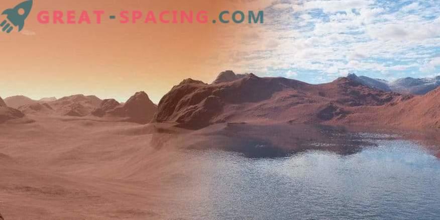 Wasser auf dem Mars wird nach dem Schwammprinzip absorbiert