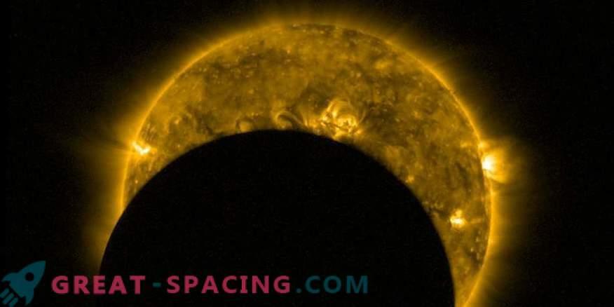 Blick aus dem All: partielle Sonnenfinsternis