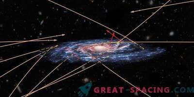 Mehrere außerirdische Sterne versuchen, in die Milchstraße vorzudringen.