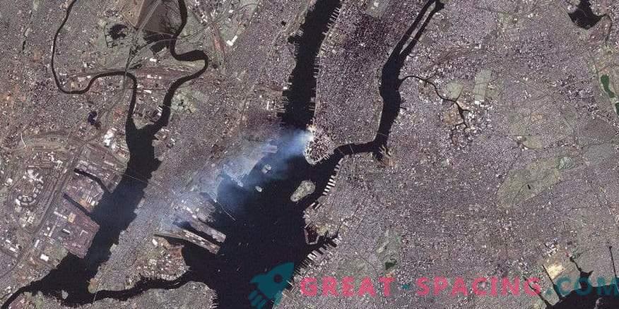Die NASA erinnert sich an den 11. September mit neuen Bildern von New York aus dem All.