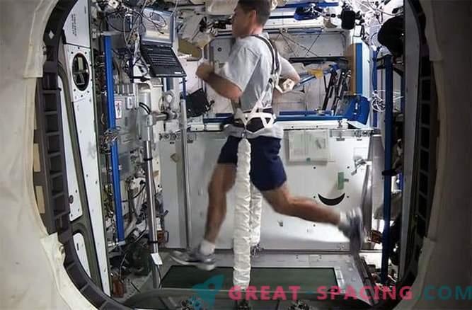 Laufen im Weltall ist eine echte Herausforderung
