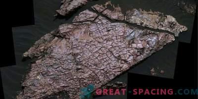 Trockene Risse bestimmen die Form des Wassers auf dem Mars