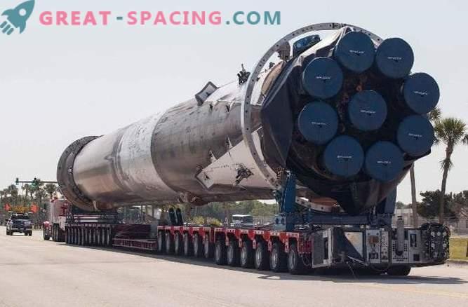 SpaceX-Rakete Falcon erhielt maximalen Schaden