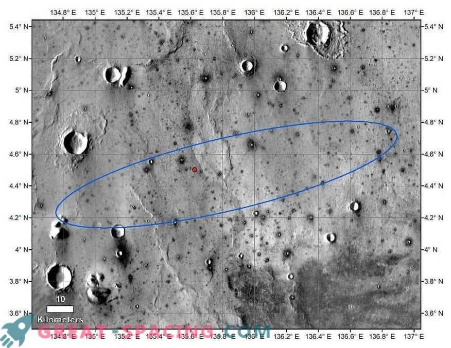 InSight-Landefeld auf Fotos aus dem All