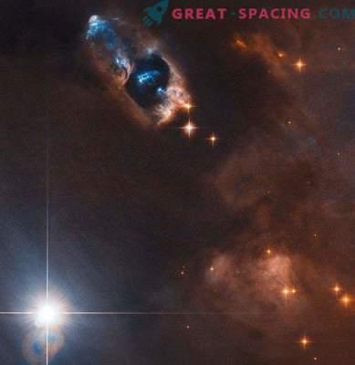 Das Hubble-Teleskop erfasst gasförmige Objekte in der Nähe des neugeborenen Sterns