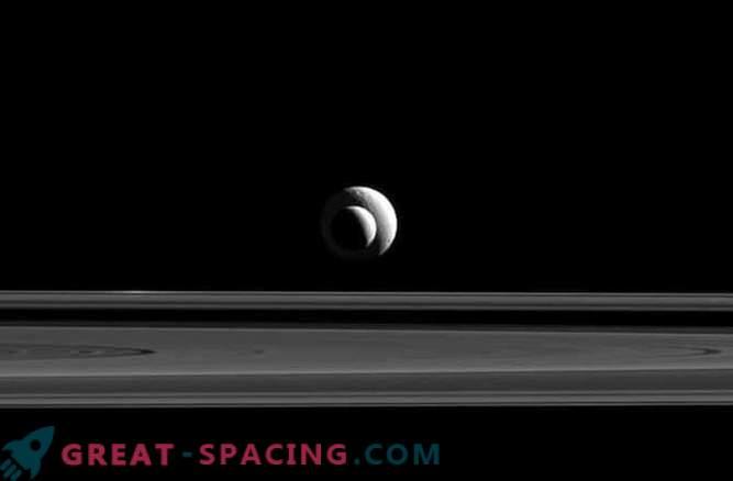 Die ideale Position der Saturnmonde