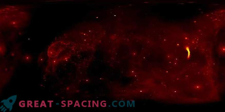 Bewundere das Zentrum der Milchstraße