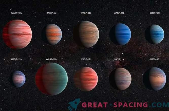 Wasser versteckt sich hinter den Wolken um heiße Exoplaneten