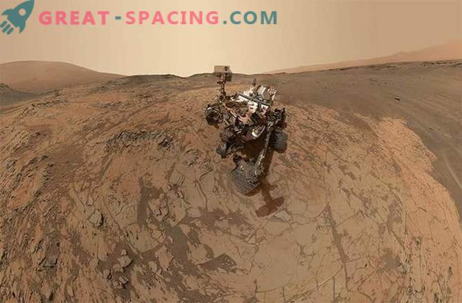 Neugier machte ein neues Selfie auf dem Mars