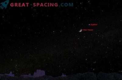 Am Sonntag trifft der Mond am Nachthimmel auf Jupiter: wohin schauen?