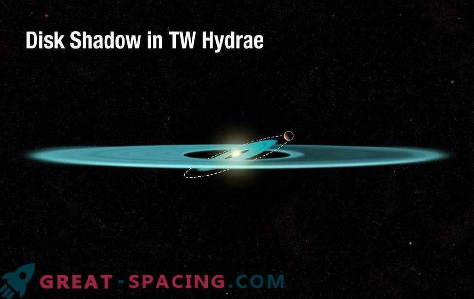 Der seltsame Schatten einer Sternscheibe kann versteckte Welten aufdecken