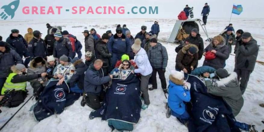 Astronauten kehrten von der ISS zur Erde zurück