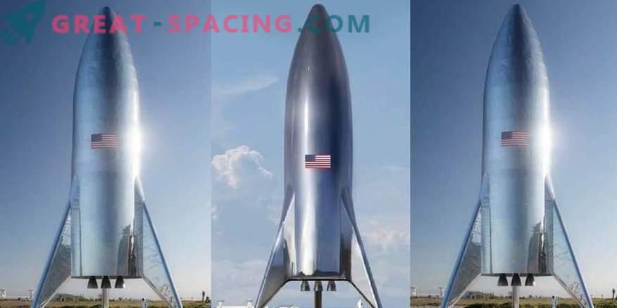 Ilon Musk demonstriert einen Prototyp einer Marsrakete