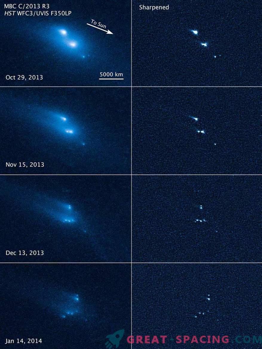 Hubble war Zeuge des mysteriösen Zusammenbruchs eines Asteroiden.