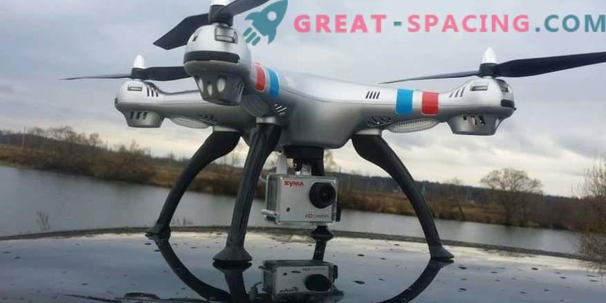 Quadcopter-Modellreihe mit Kameras