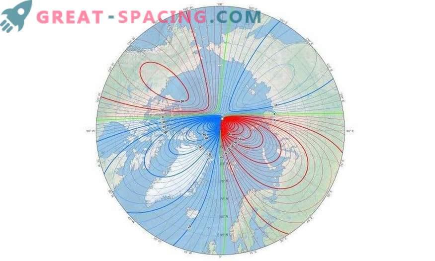 Wissenschaftler mussten dringend die Karte des geomagnetischen Weltfelds aktualisieren