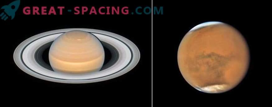 Neue Bilder von Mars und Saturn von Hubble