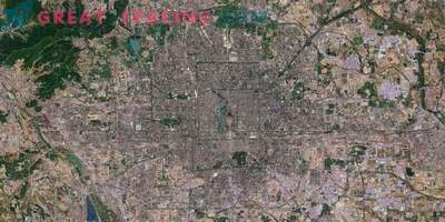 Peking im Sentinel-2-Satellitenmapping