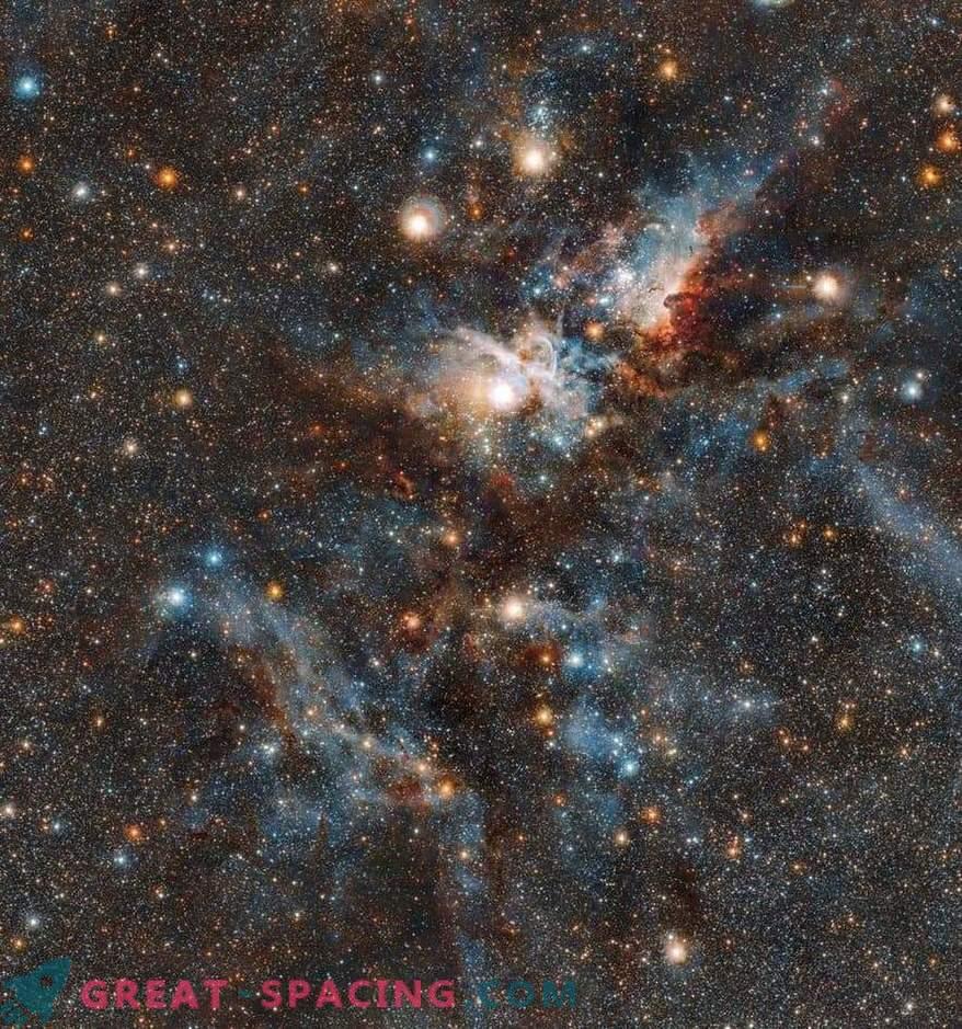 Der blutige Kampf zwischen den Sternen und dem Staub im Carina-Nebel