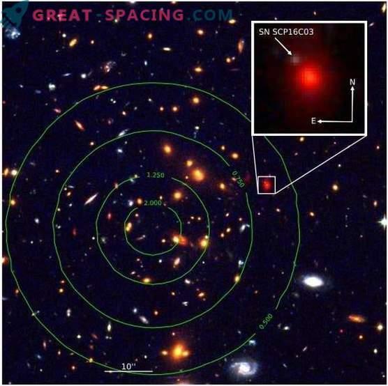 Gravitationslinse gefunden Supernovae