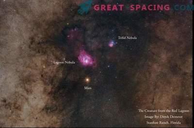 Mars und Nebel in atemberaubender Nachthimmelfotografie
