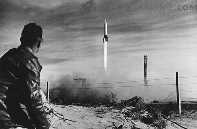 V-2: Rakete der faschistischen deutschen Militärmaschine