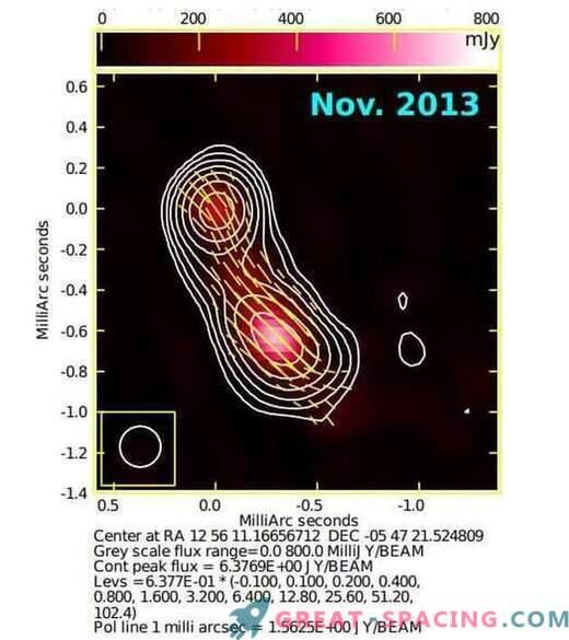 Gammastrahlenbereiche in Blazar 3C 279